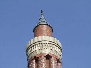 Moschee m. kanneliertem Minarett - Antalya